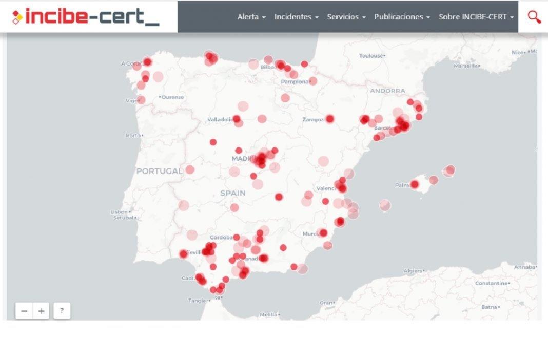 Captura de pantalla de la página de Incibe-Cert, El Centro de Respuesta a Incidentes de Seguridad e Industria