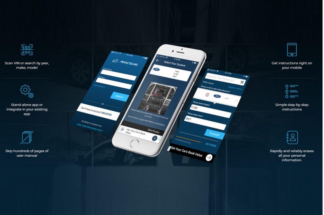 Móvil con una aplicación en funcionamiento y un holograma a cada lado