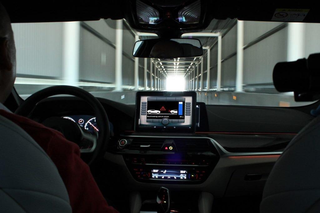 Imagen del interior de un coche.
