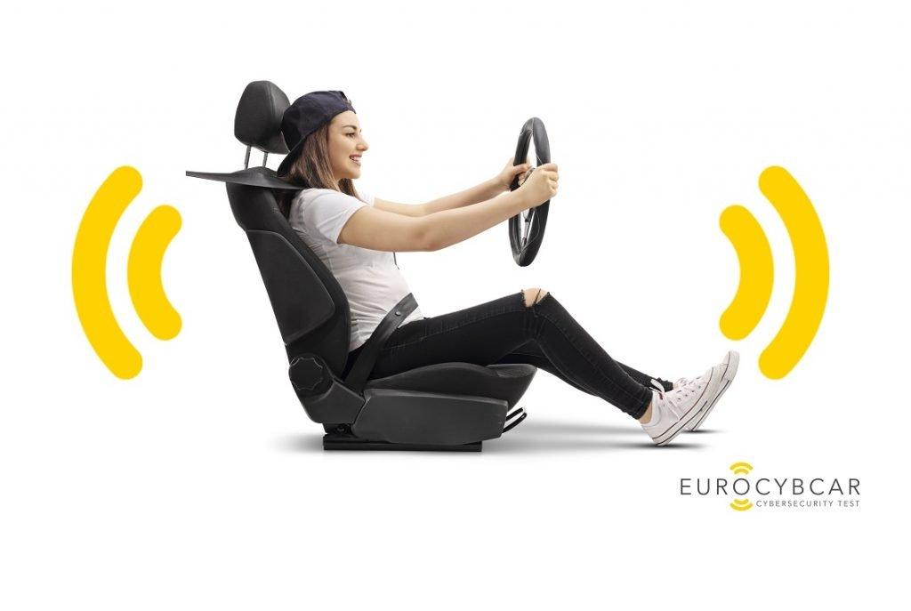 Logo de Eurocybcar, el primer test que mide la ciberseguridad de un coche