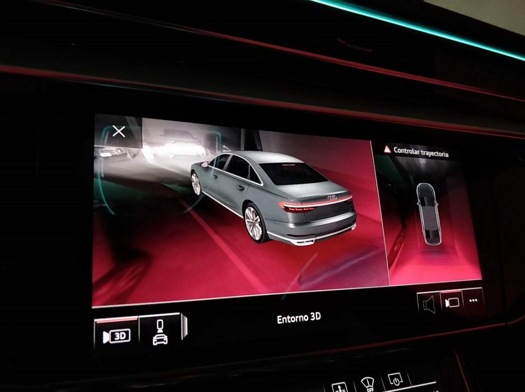 Imagen en 3D generada por el sistema de ayuda al aparcamiento del Audi A8