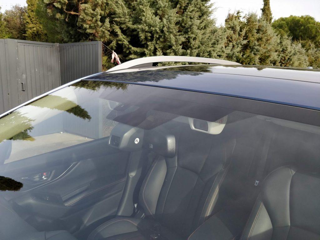 Detalle de la doble cámara equipada en el Subaru XV