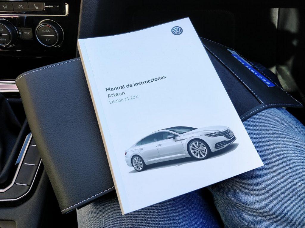 Detalle del manual de instrucciones del Volkswagen Arteon