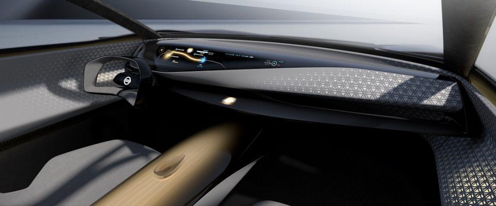 Imagen del futurista interior del concept Nissan IMQ.