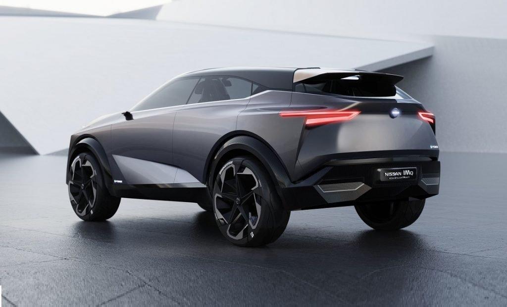 Imagen del Nissan IMQ en tres cuartos traser