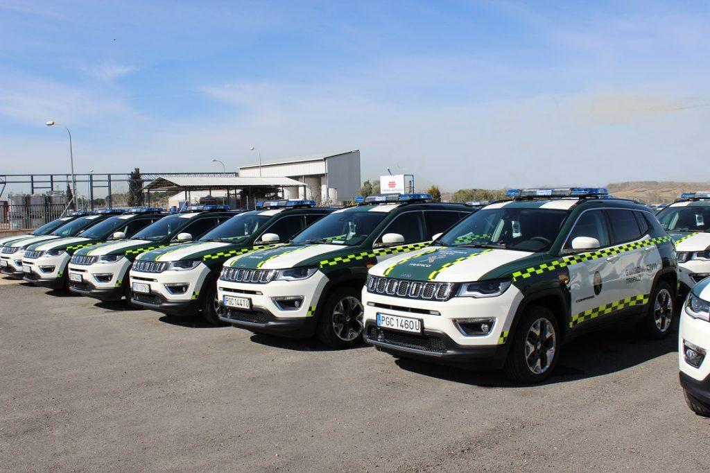 Imagen de los Jeep Compass adquiridos por la Guardia Civil