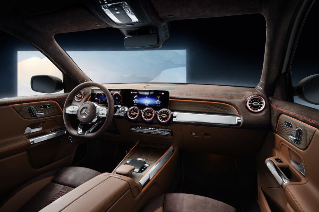 Imagen del interior de un Mercedes GLB