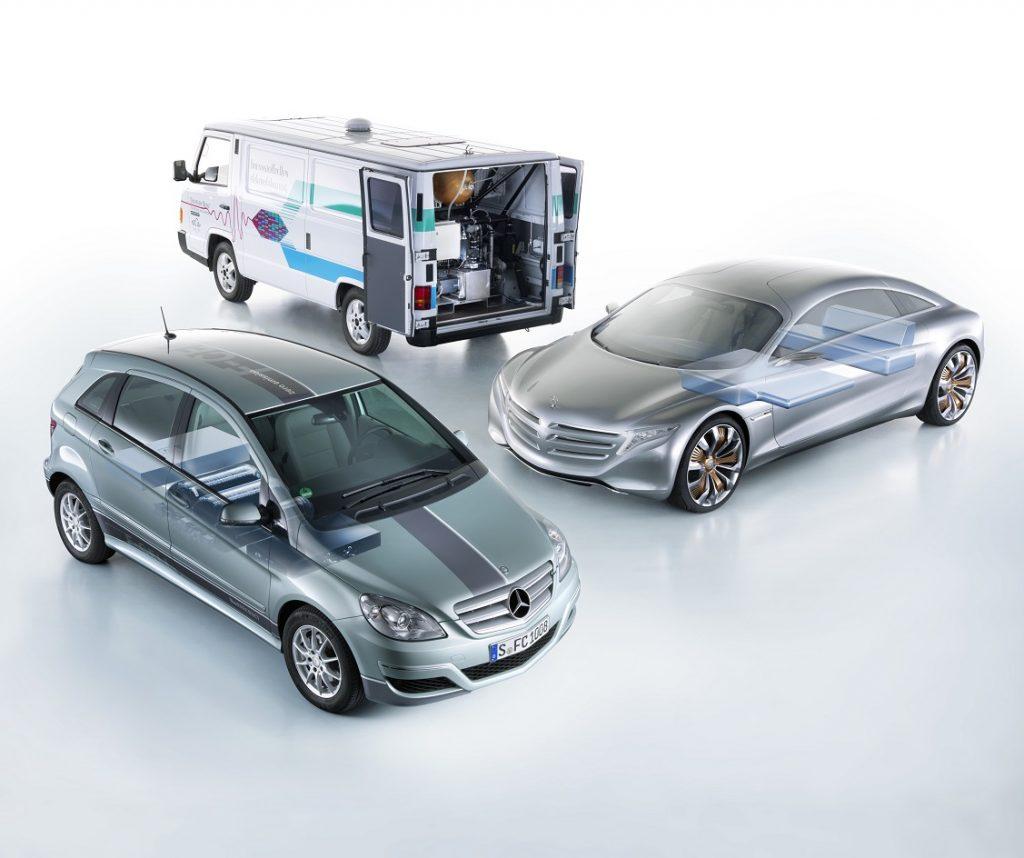 Modelos de pila de combustible Mercedes