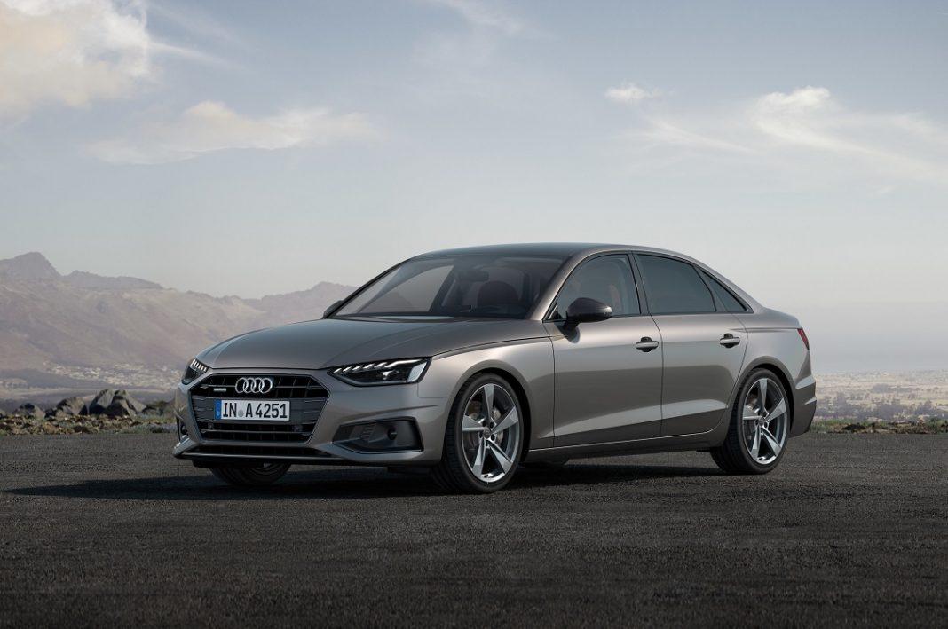 Audi A4 2019 de color gris tres cuartos delantero