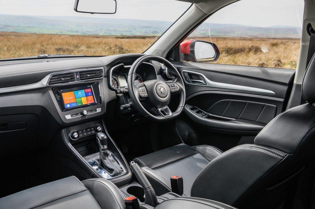 Imagen del interior del MG ZS EV