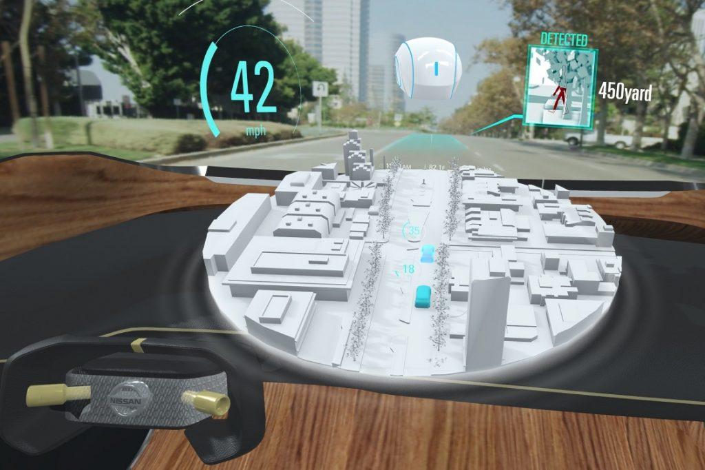 Ilustración del sistema Invisible 2 Visible de Nissan