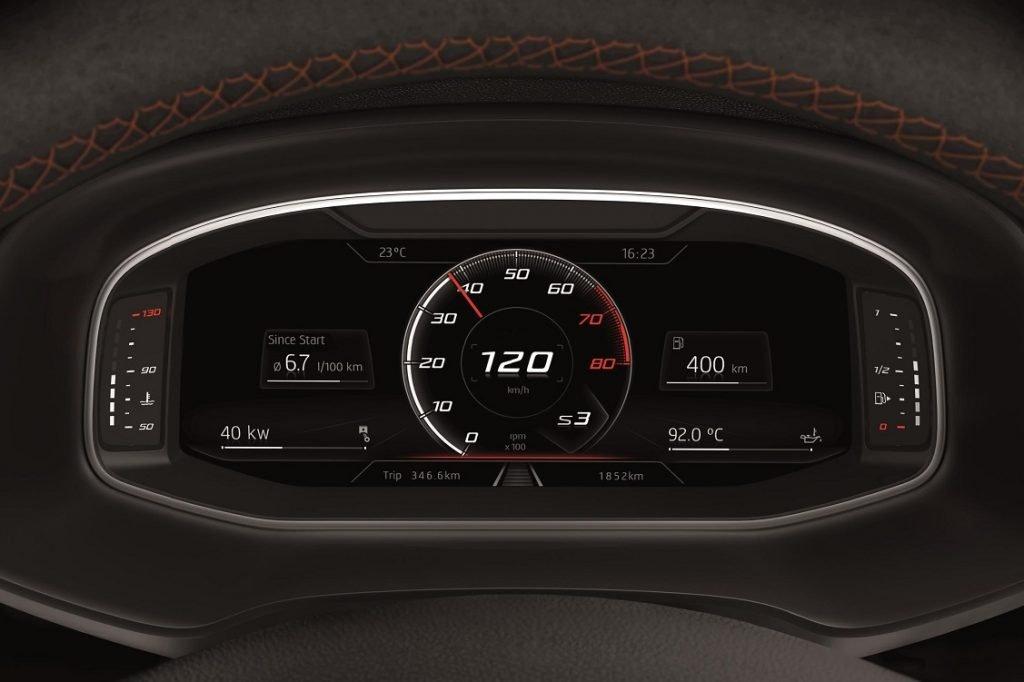 Digital Cockpit del Seat León ST Cupra R