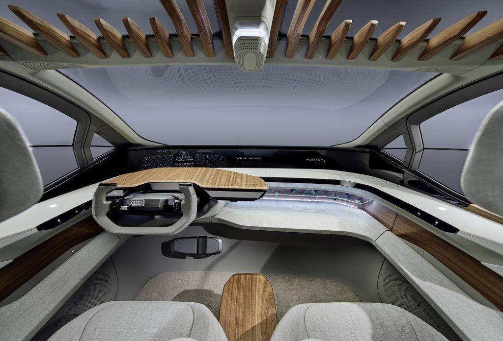 Imagen del interior de un Audi AI:ME