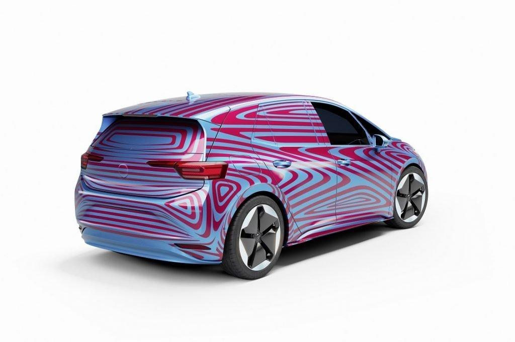 Imagen tres cuartos trasero del nuevo Volkswagen ID.3