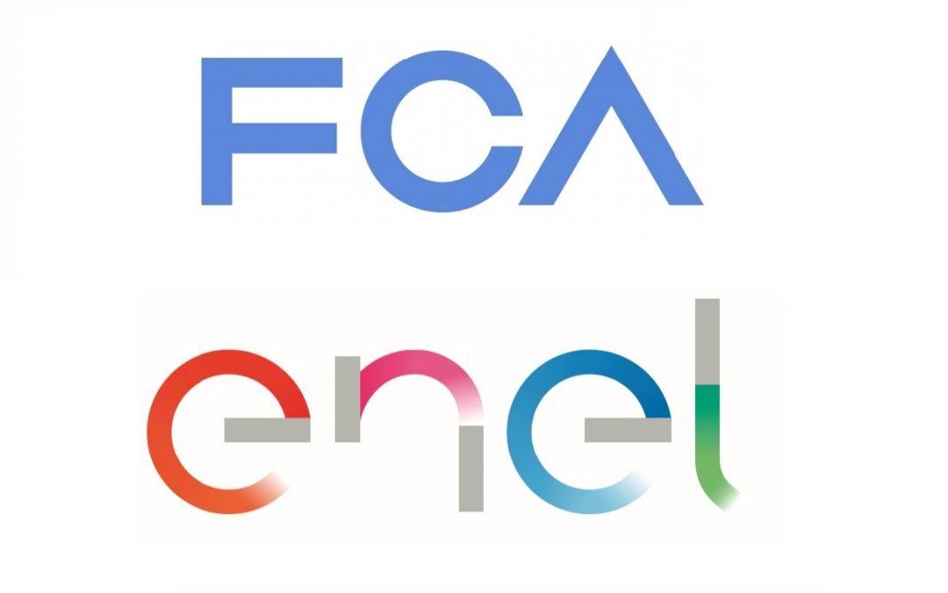 Unión de los logotipos de FCA y Enel