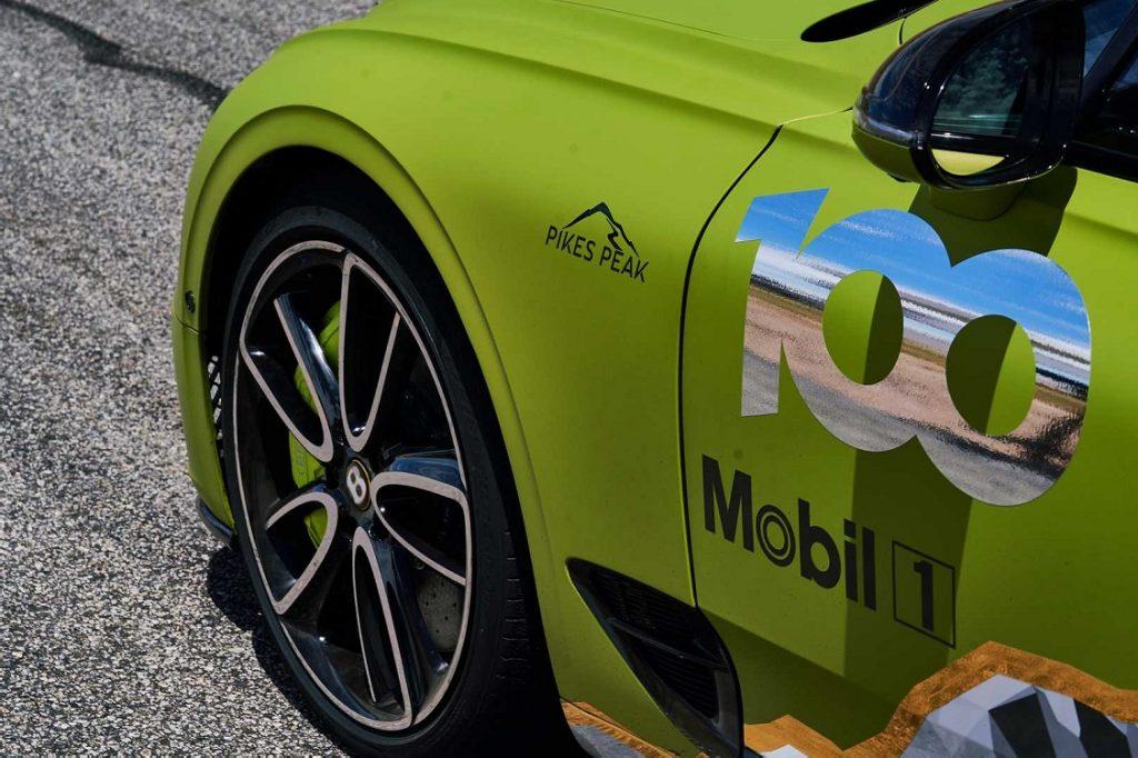 Detalle del Bentley Continental GT para la Pike's Peak