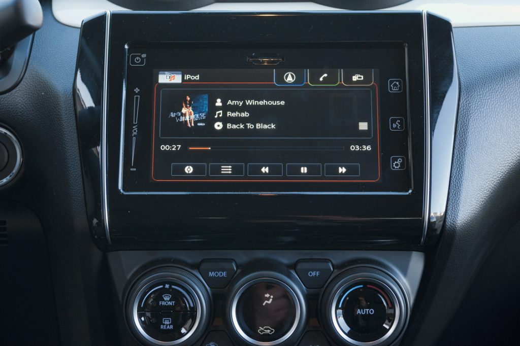 Imagen del sistema multimedia del Suzuki Swift SHVS
