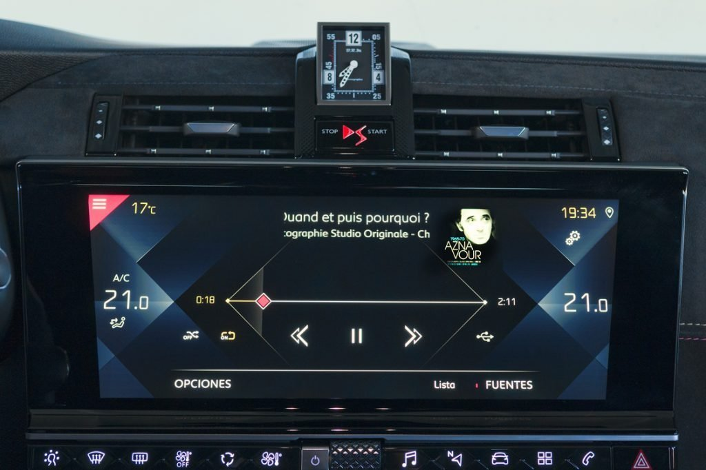 Pantalla de audio del DS 7 Crossback