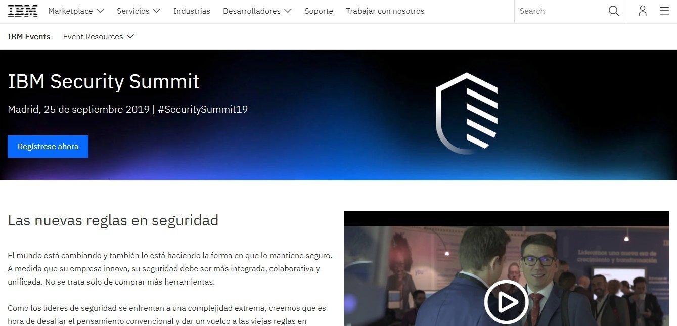 Cartel promocional del IBM Security Summit