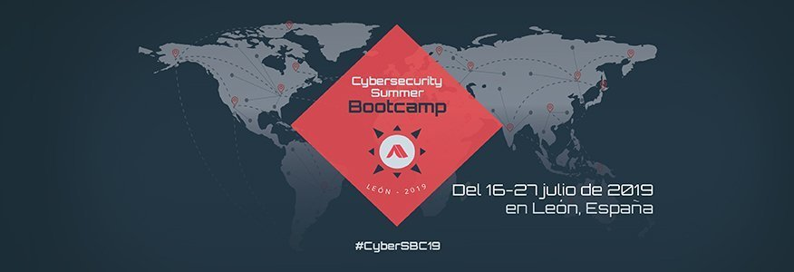 Cartel promocional del Cybersecurity Summer BootCamp 2019