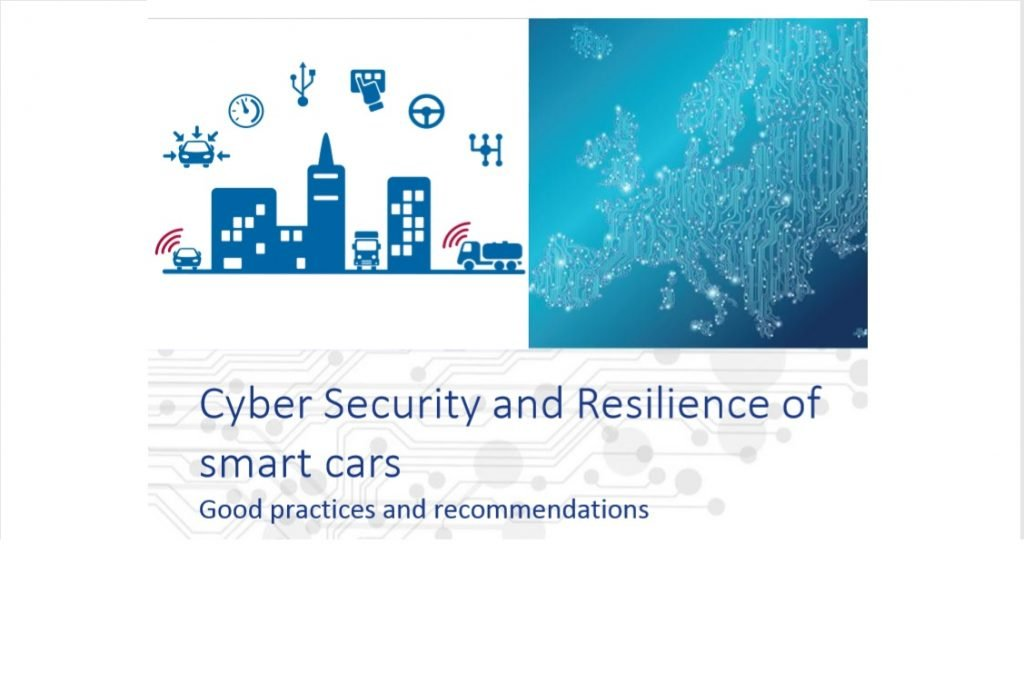 Portada del informe Cyber Security and Resilience of smart cars de ENISA