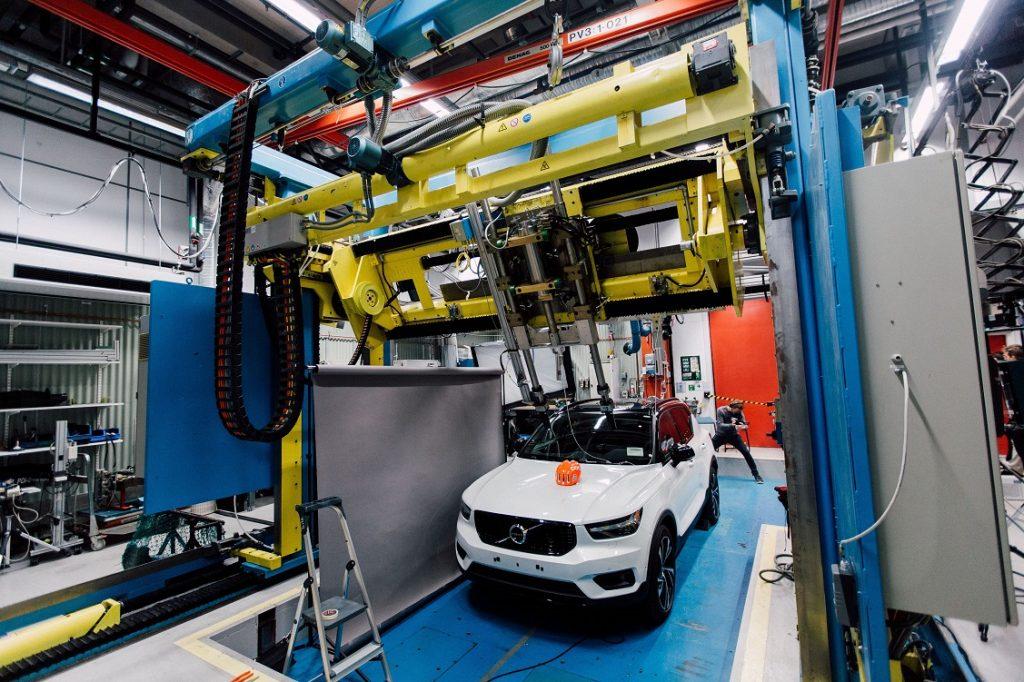 Imagen del test de Volvo y POC