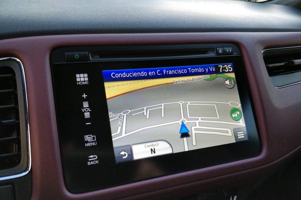 Sistema de navegación del Honda HRV
