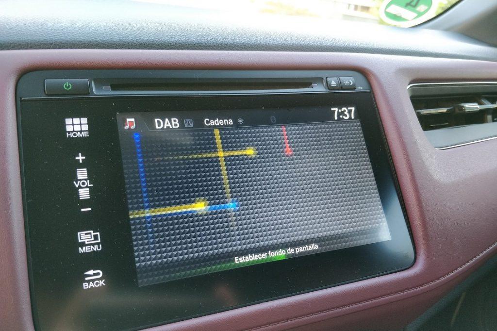 Imagen del fondo de pantalla que ofrece el sistema multimedia del Honda HRV.