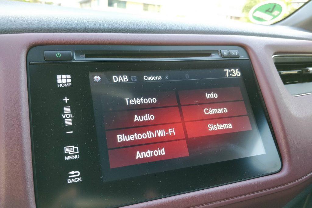Imagen de una de las pantallas del sistema del Honda HRV