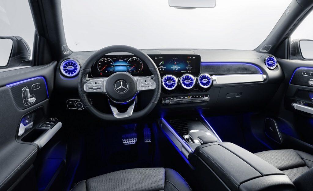 Imagen del interior del nuevo Mercedes GLB