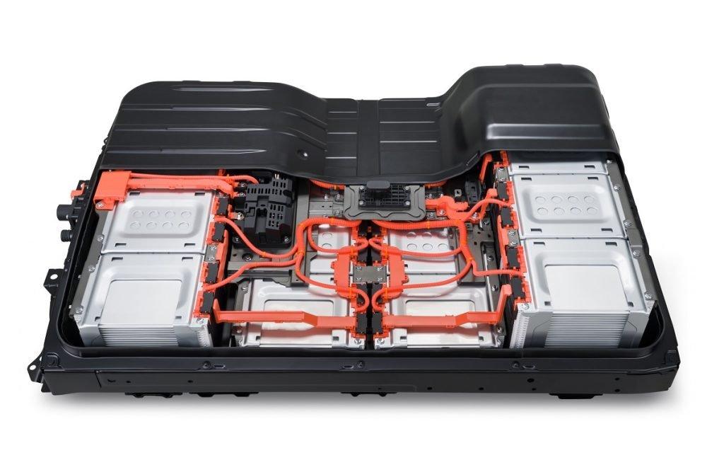 Imagen de la batería de un Nissan Leaf e+