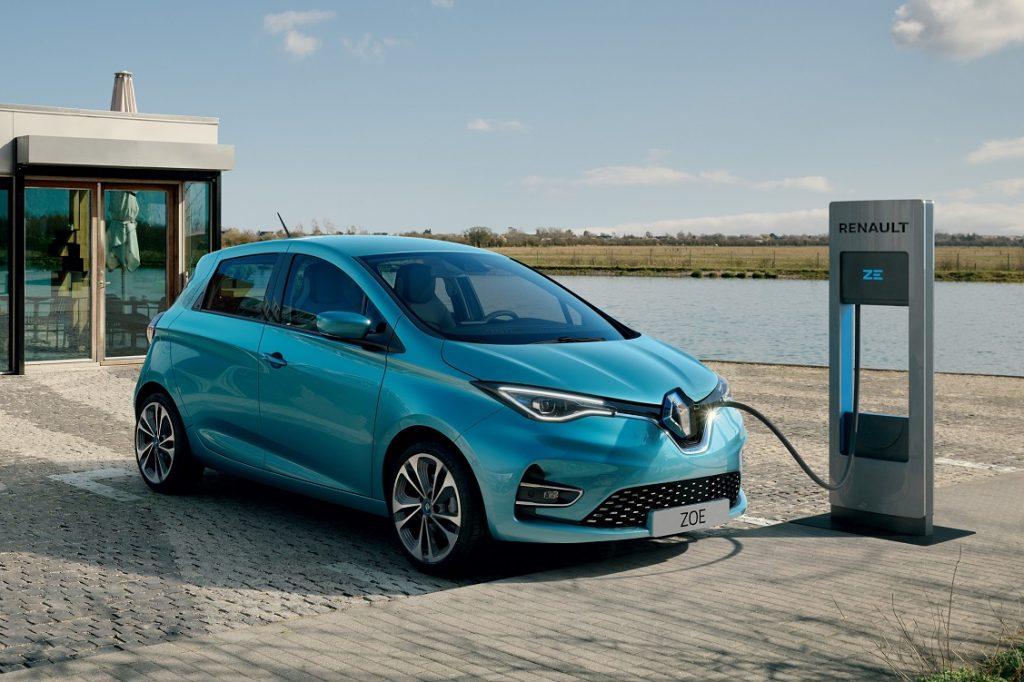Imagen exterior del nuevo Renault Zoe tres cuartos delantero