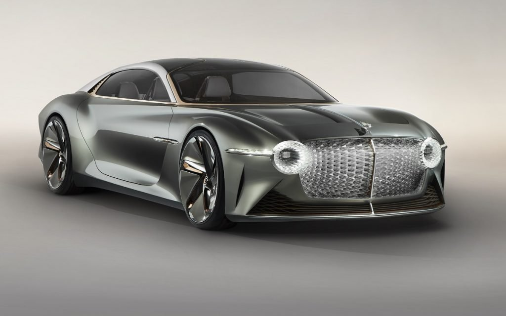 Imagen tres cuartos delantero del nuevo Bentley EXP 100 GT