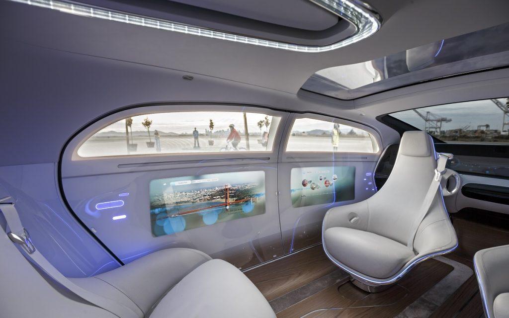 Imagen del interior del Mercedes-Benz F 015