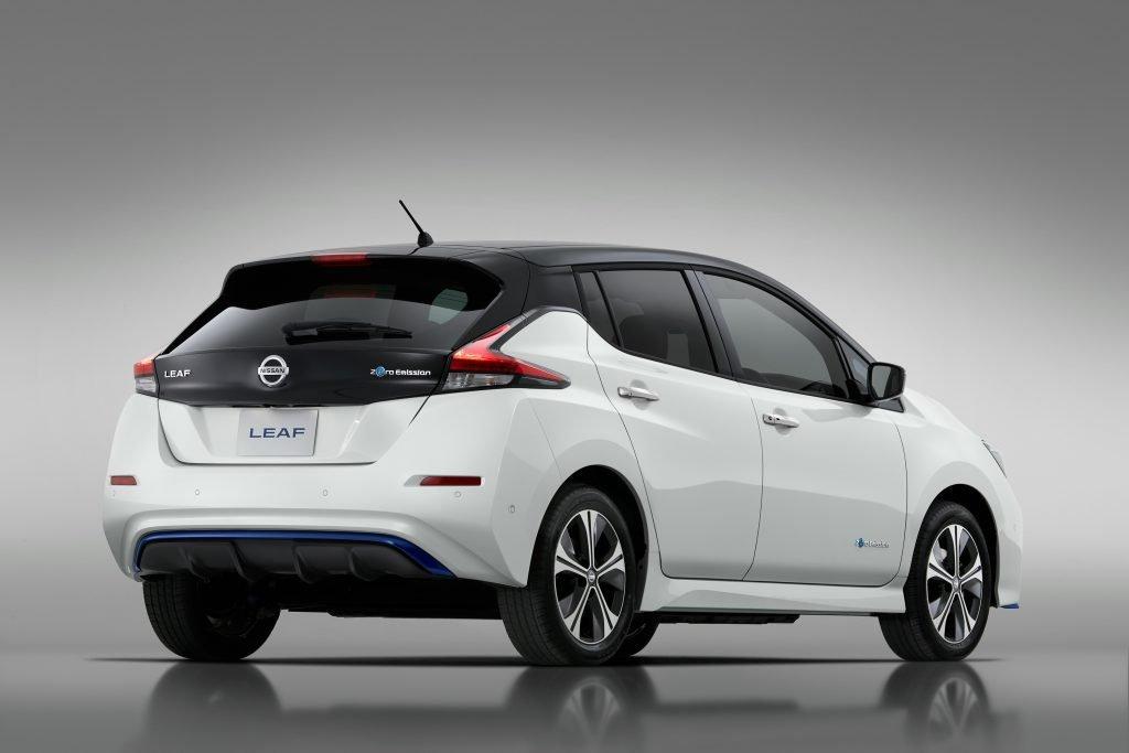 Imagen posterior del Nissan Leaf E+