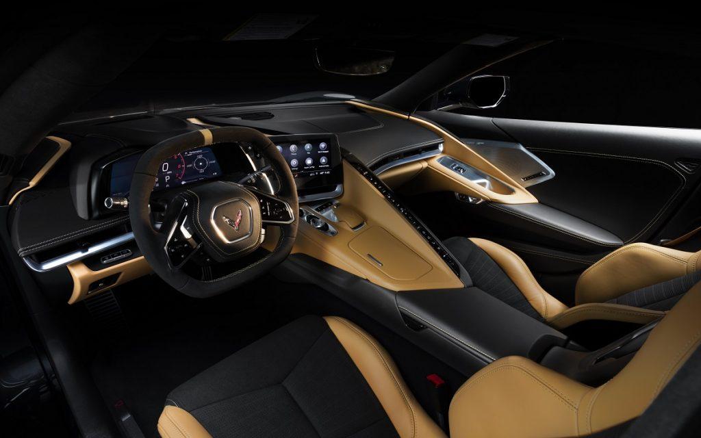 Imagen del interior del Chevrolet Corvette Stingray