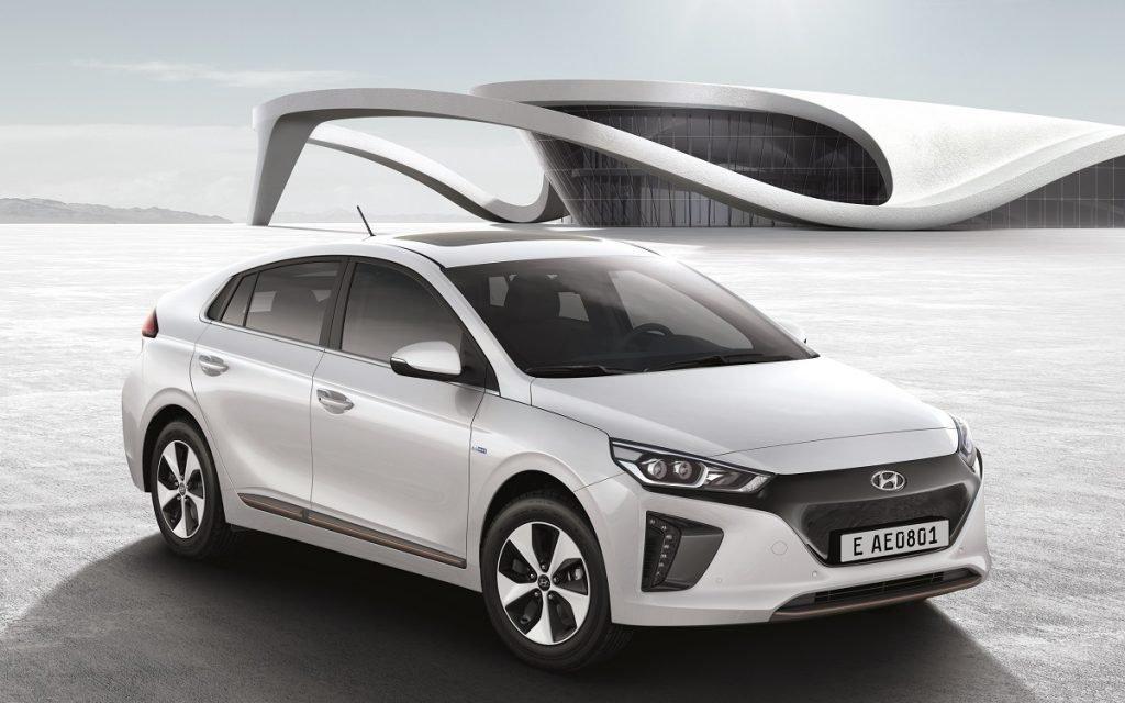 Imagen de un Hyundai Ioniq eléctrico