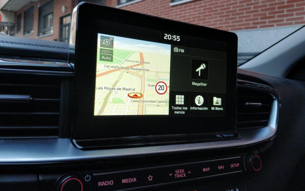 Imagen del sistema multimedia del Kia Ceed