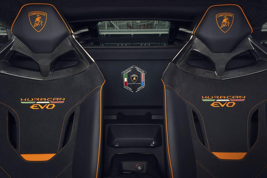 Lamborghini Huracán EVO Competition interior asientos