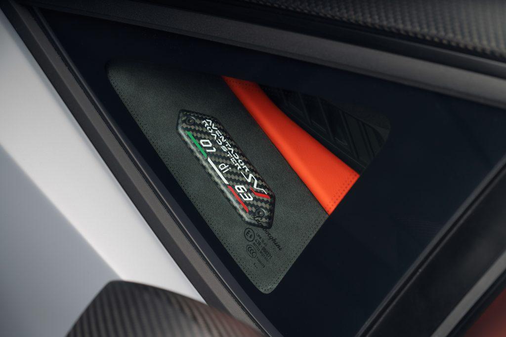 Lamborghini Aventador SVJ63 Roadster interior detalle