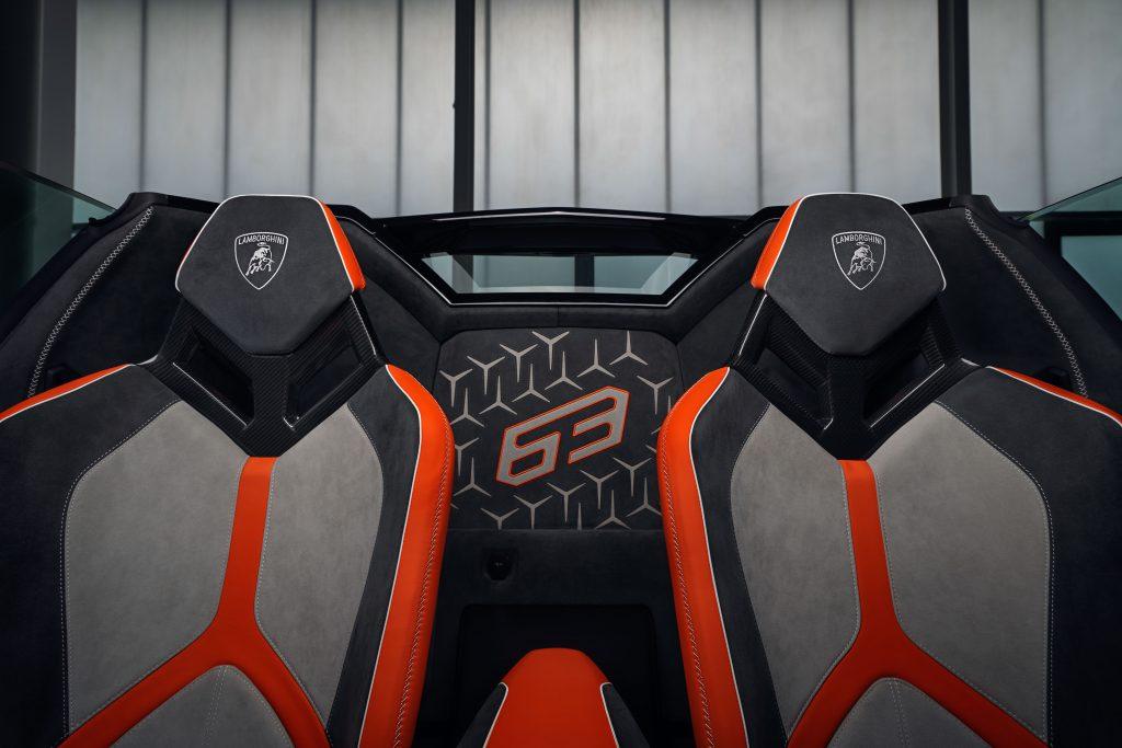 Lamborghini Aventador SVJ63 Roadster interior asientos
