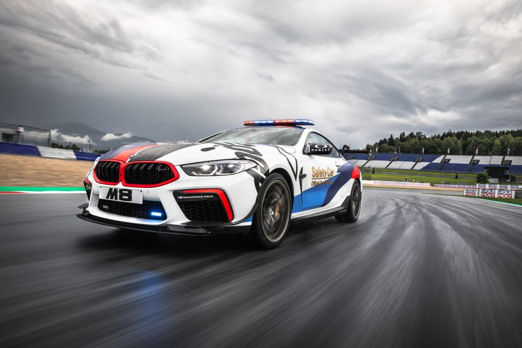 BMW M8 Safety Car MotoGP tres cuartos frontal