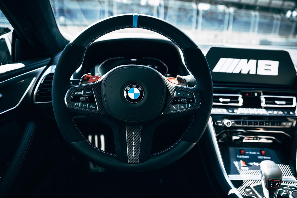 BMW M8 Safety Car MotoGP interior conductor
