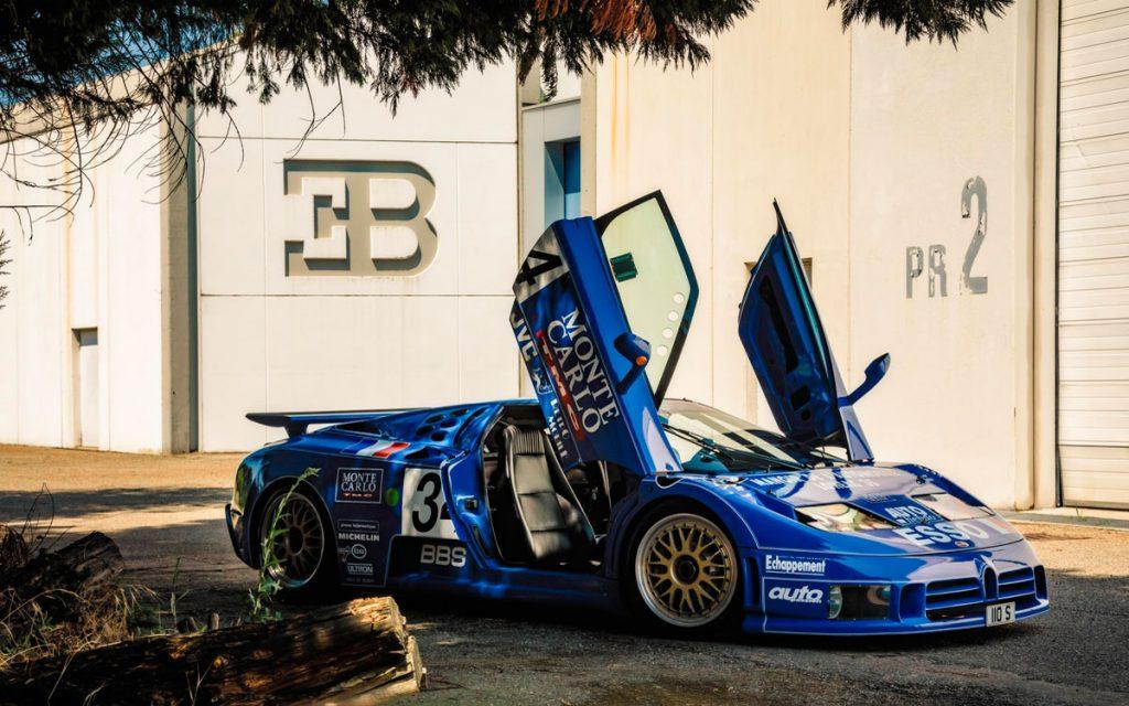 Imagen del Bugatti EB110 que participó en Le Mans 94