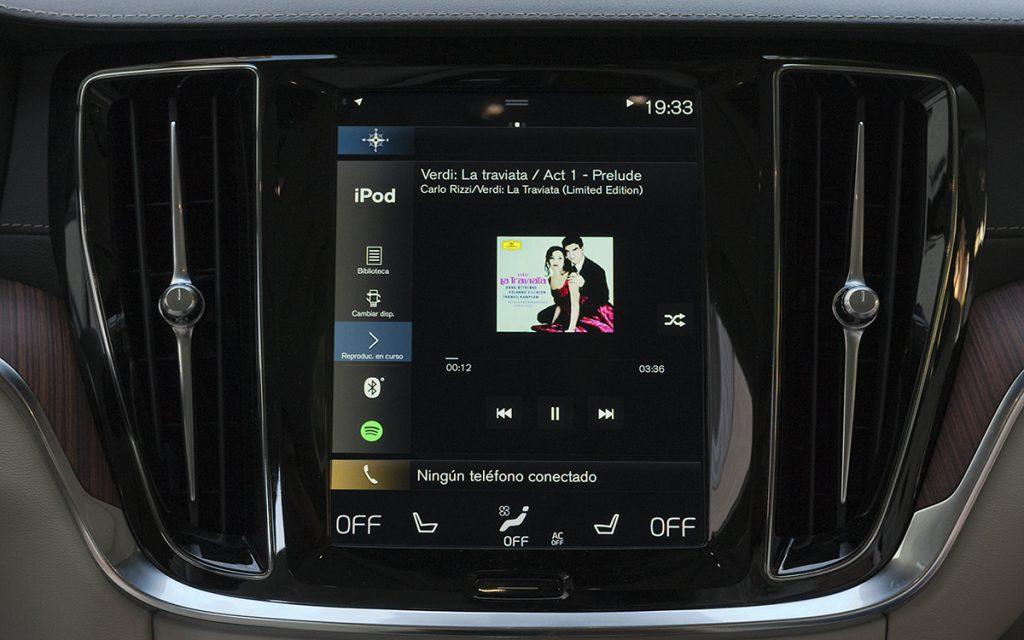Pantalla iPod del Volvo V60 Cross-Country