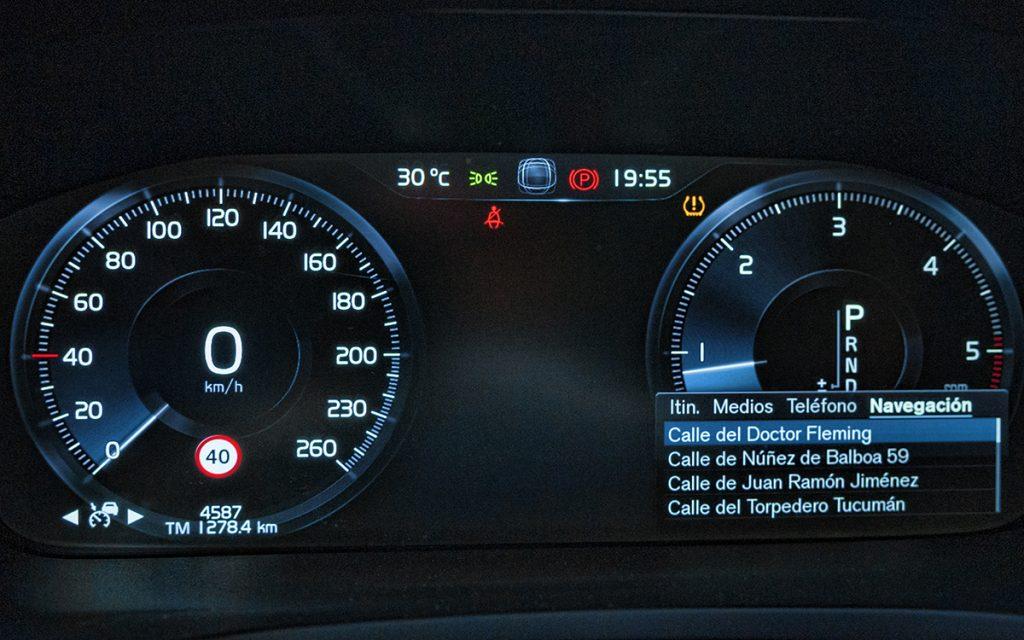Digital Cockpit del Volvo V60 Cross-Country