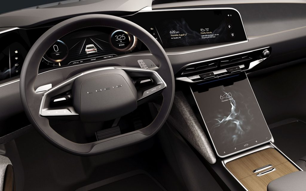 Interior del Lucid Air
