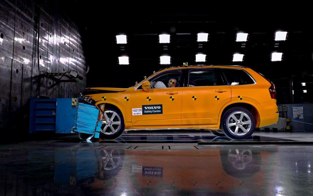 Imagen de un crash-test de Volvo