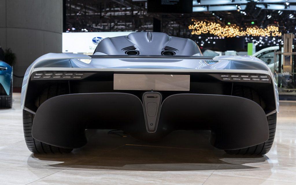 Imagen trasera del próximo Aston Martin Valhalla