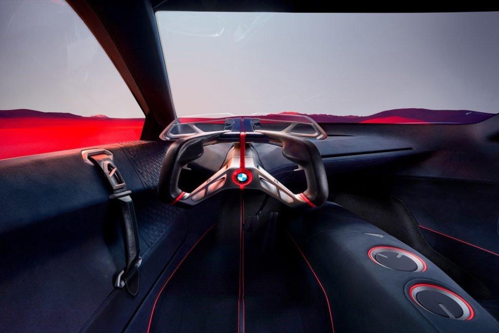 BMW Vision M Next interior volante